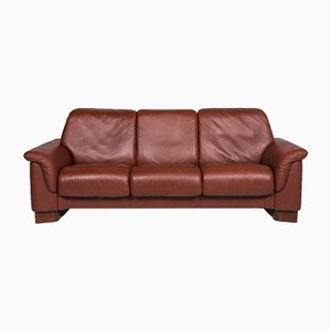 Paradise Leather 3-Seat Sofa in Rust Brown from Stressless