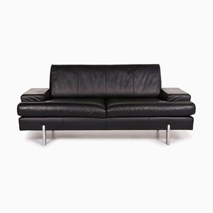 644 Black Leather 2-Seat Sofa from Rolf Benz