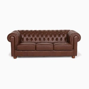 Brown Leather 3-Seat Sofa from Chesterfield