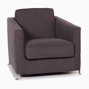 Grey Anthracite Fabric Armchair from Flexform
