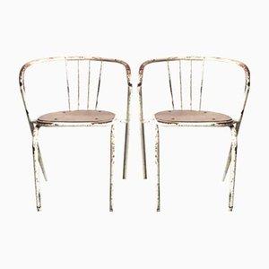 Chaises de Salon Vintage Industrielles en Métal Tubulaire, Set de 2