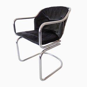 Chrom Esszimmerstühle von Gastone Rinaldi, 1970er, 4er Set