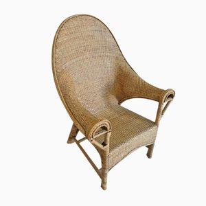Rattan Lounge Chair, 1960s