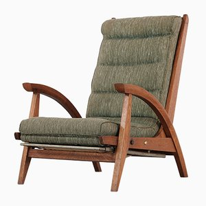 French Model Fs 134 Reclining Lounge Chair by Guy Besnard for Free Span, 1954