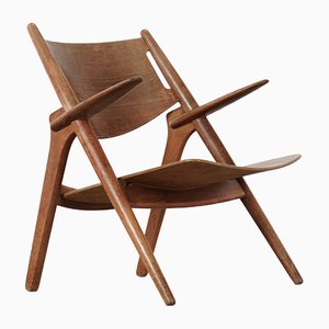 Danish Oak Sawbuck Chair by Hans J. Wegner for Carl Hansen & Søn, 1951
