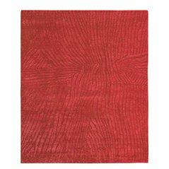 Roter Gilio Teppich aus Wolle und Seide von Jan Kath