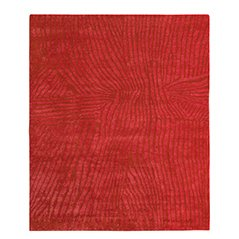 Wool and Silk Gilio Red Rug by Jan Kath