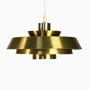 Mid-Century Danish Nova Pendant Lamp by Johannes Hammerborg for Fog & Mørup, 1960s