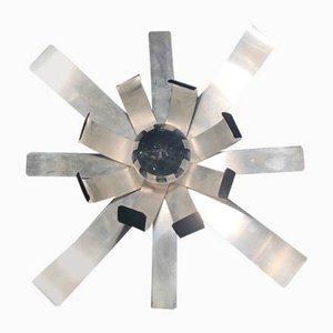 Wandleuchte aus gebürstetem Stahl von Michel Boyer für Oxam, 1970er