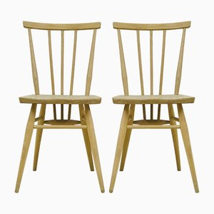 Vintage Light Elm Chairs by Lucian Ercolani for Ercol, 1960s, Set of 2