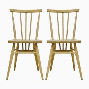 Vintage Stühle aus Hellem Ulmenholz von Lucian Ercolani für Ercol, 1960er, 2er Set