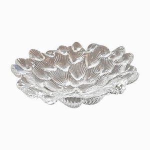 Shell Shaped Crystal Bowl by Per Lütken for Royal Copenhagen, 1980s