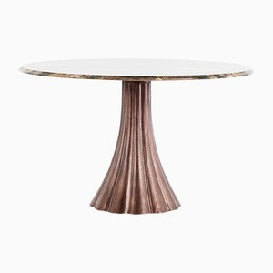 Marble and Cast Metal Tulip Dining Table by Angelo Mangiarotti, 1969