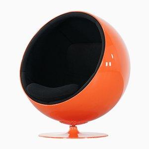 Finnischer Bright Orange Ball Chair von Eero Aarnio für Asko, 1962