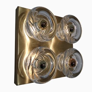 Brass and Glass Sconce from Cosack, 1960s