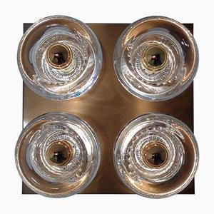 Wandleuchte aus Kupfer & Glas von Cosack, 1960er