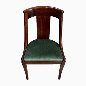 Antique Empire Gondola Mahogany Dining Chairs, 1900s, Set of 8