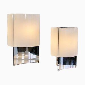 Mid-Century Tischlampen von Massimo Vignelli für Arteluce, 2er Set