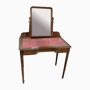 Antique Louis XVI Walnut Dressing Table, 1900s