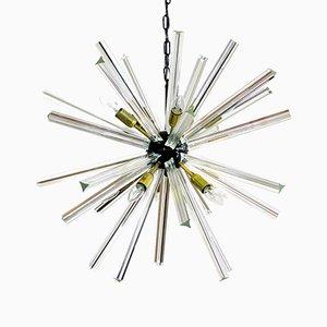 Kristallglas Prisma Sputnik Kronleuchter, 1984