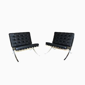 Barcelona Easy Chairs by Ludwig Mies van der Rohe for Knoll Inc. / Knoll International, 1967, Set of 2