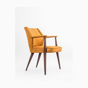 Mid-Century Teak and Baghera Fabric Armchair