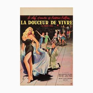 Affiche La Dolce Vita par Yves Thos, 1960s