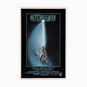Póster El Retorno del Jedi de Star Wars de Tim Reamer, años 80