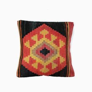 Vintage Square Wool Kilim Moroccan Decor Cushion Cover