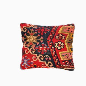 Quadratischer Vintage Kilim Marokkanischer Dekor Kissenbezug