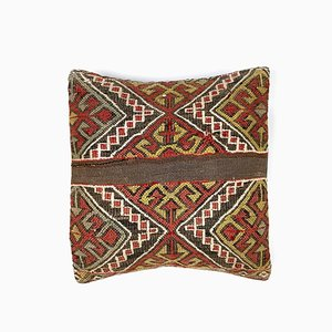 Vintage Square Wool Kilim Moroccan Decor Cushion Cover