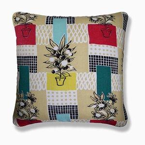 Flowerpots Cushion, 1950s