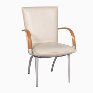 Cream Leather Armchair from Rolf Benz