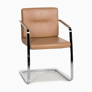 625 Beige Leather Cantilever Armchair from Rolf Benz