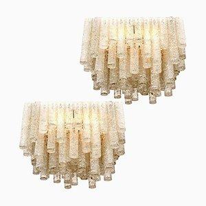 Große Moderne Deckenlampen oder Leuchten von Doria Leuchten Germany, 1960er, 2er Set