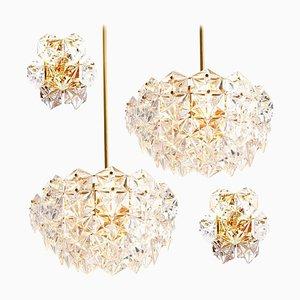 Vergoldete Metall Wandlampen von Kinkeldey, 1960er, 4er Set