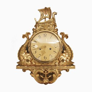 Gilt Cartel Wall Clock, 1950s
