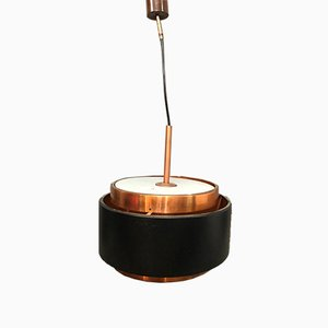 Metal and Copper Ceiling Lamp by Gaetano Sciolari for Stilnovo, Italy, 1950s