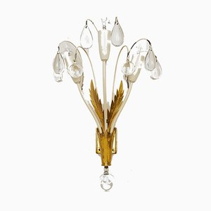 Crystal Glass Sconces from Vereinigte Werkstätten Collection, 1950s, Set of 2