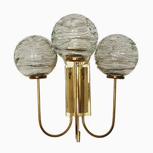 Deutsche Wandlampen aus Messing & Glas von Doria Leuchten, 1960er, 2er Set