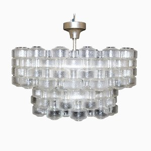 Festival Ceiling Lamp by Gert Nyström for Fagerhult Sweden and Orrefors, 1970s