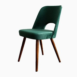 Green Velvet Dining Chairs by Oswald Haerdtl for Tatra, 1960s, Set of 4