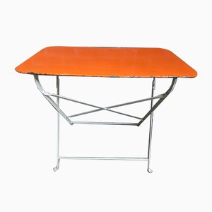 Industrial Steel Garden Folding Table, 1950s