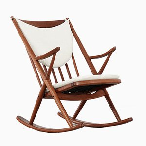 Rocking Chair en Teck par Frank Reenskaug pour Bramin, Danemark, 1962