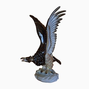 Vintage Porcelain Eagles from Herend, Set of 2