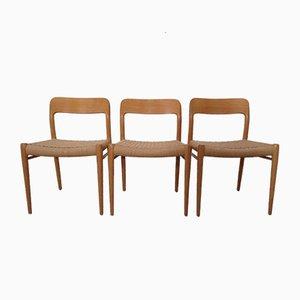 Dänischer Modell 75 Stuhl aus Eiche von Niels Otto Møller für JL Møllers, 1960er