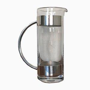 Karaffe aus Versilbertem und Kristallglas von Lino Sabattini, 1960er
