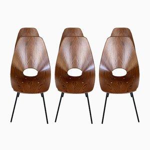 Vintage Medea Esszimmerstühle von Vittorio Nobili, 6er Set
