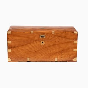 19th Century Camphor Wood Military Campaign Trunk, 1850s