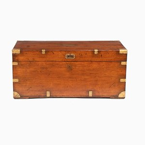 19th Century Brass Bound Military Campaign Chest